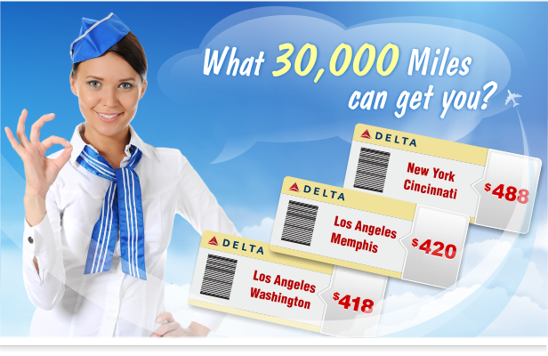 30,000 Miles with Delta Skymiles Card