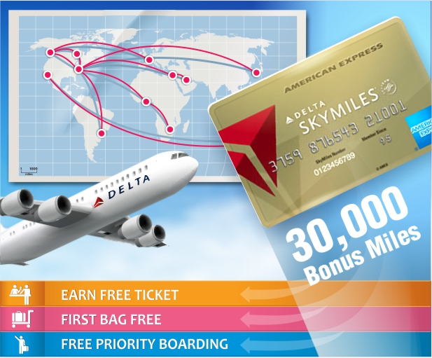 Gold Delta SkyMiles Cardholders Fly Free and Check Bags for Free with American Express