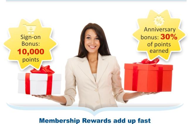 Membership Rewards add up fast