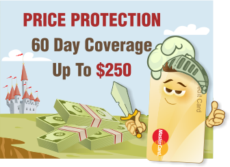 MasterCard: Price Protection - 60 Day Coverage Up To $250