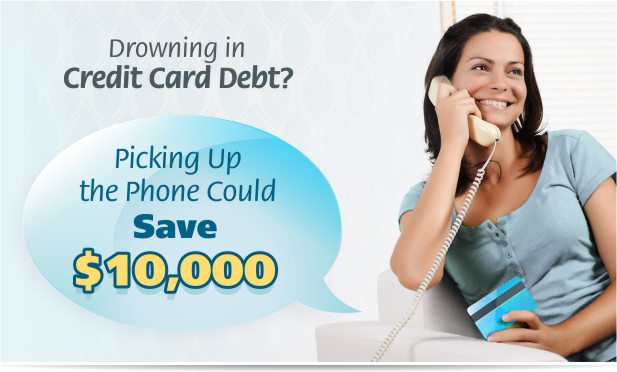 Drowning in Credit Card Debt? Picking Up the Phone Could Save $10,000