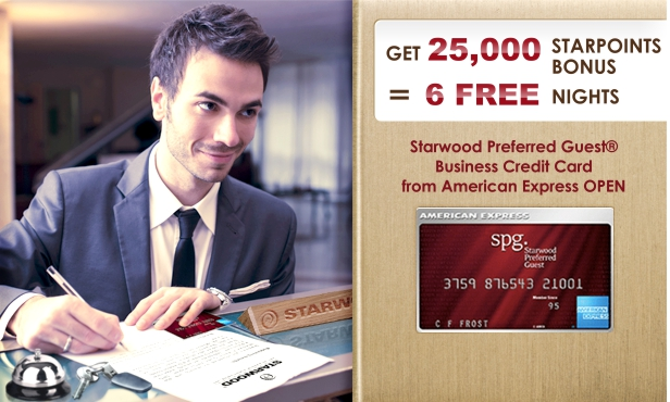 Starwood Preferred Guest Business Credit Card - 6 FREE Nights