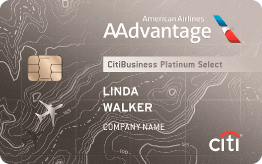 CitiBusiness<sup>®</sup> / AAdvantage<sup>®</sup> Platinum Select<sup>®</sup> Mastercard<sup>®</sup>