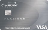 Credit One® Platinum Visa® with 1% Cash Back on Eligible Purchases